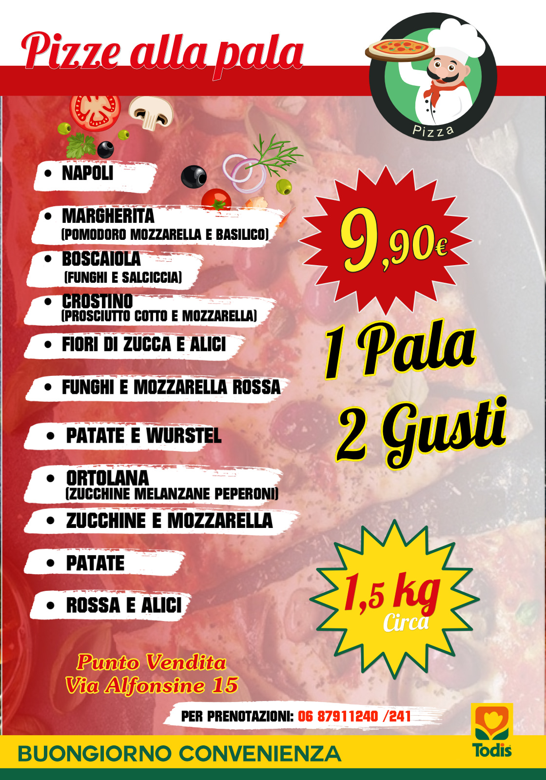 locandina pizze alla pala renis group