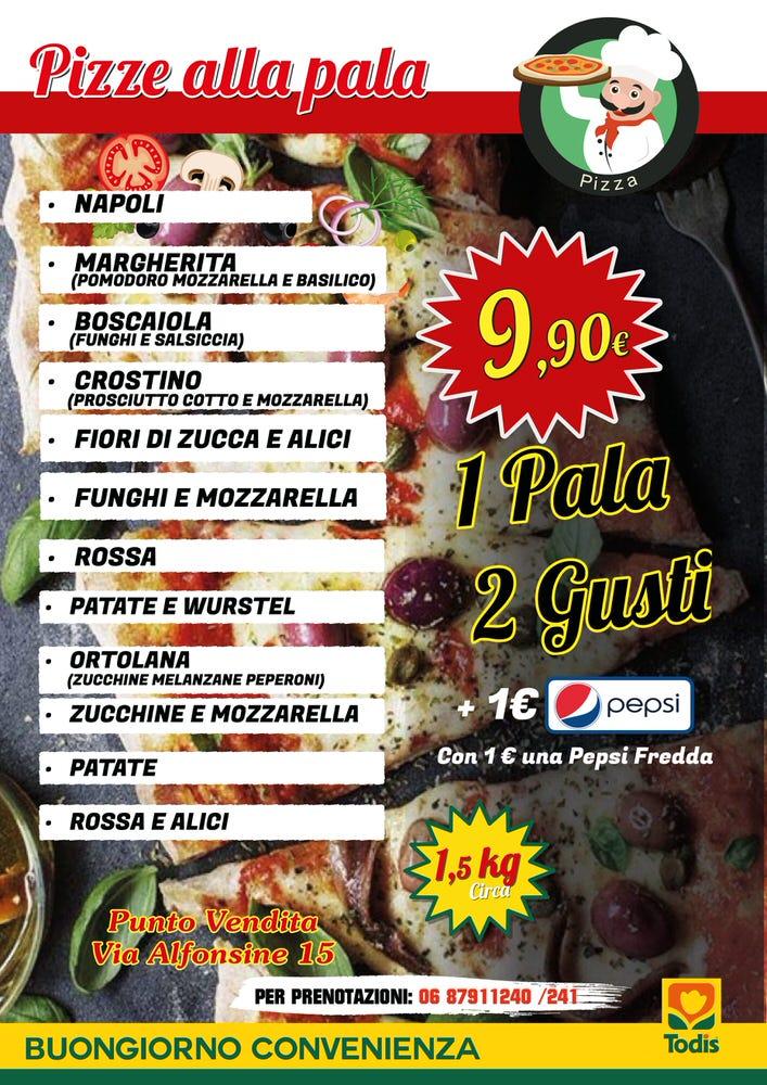 Locandina Pizza Pala 2 Gusti + PESPI A4